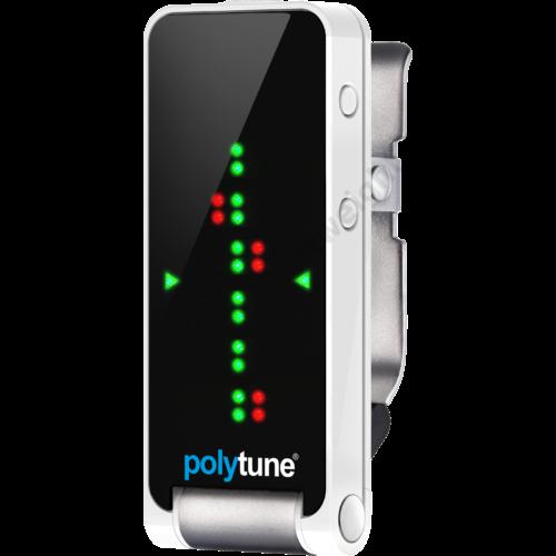 TC Electronic PolyTune Clip Ezüst Csiptetős Polifónikus Hangoló